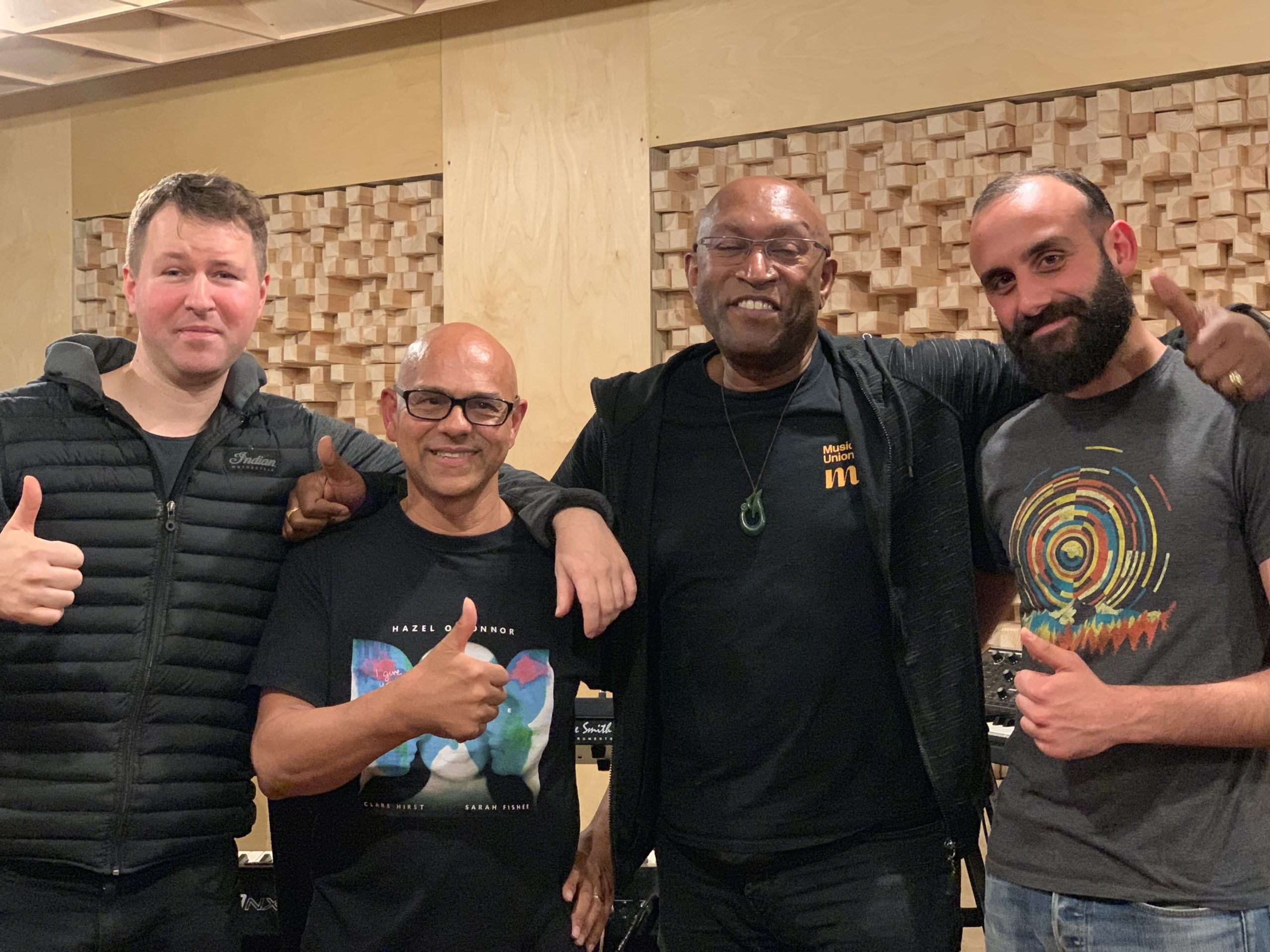 Musicians Recording library tracks in London for Jammin Player